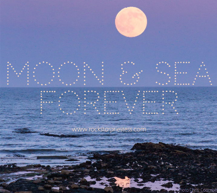 Moon and sea forever