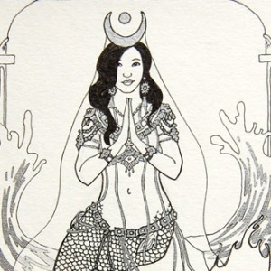 Bejewelled Priestess deetail